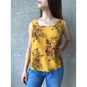 VINTAGE | Square neck sleeveless top